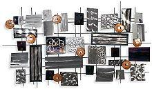 Composición abstracta Cuadro en metal escultura