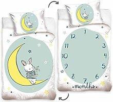 Conejo blanco - Juego de cama con funda nórdica