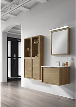 Conjunto baño de mueble + lavabo + espejo 60 Tino