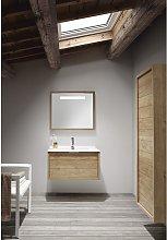 Conjunto baño de mueble + lavabo + espejo 70 Tino