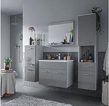 Conjunto CLAUDIO gris - Lavabo + Mueble de baño