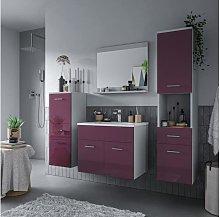 Conjunto CLAUDIO lila - Lavabo + Mueble de baño
