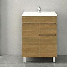 Conjunto CLIF, Mueble de lavabo 60cm y espejo HERA