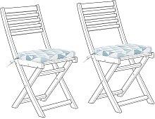 Conjunto de 2 cojines para la silla de jardín