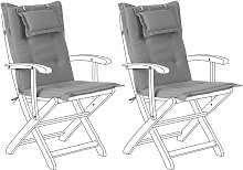 Conjunto de 2 cojines para silla de jardín gris