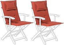 Conjunto de 2 cojines para silla de jardín