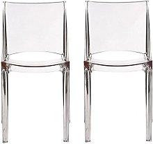 Conjunto de 2 sillas apilables HELLY -
