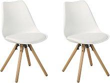 Conjunto de 2 sillas de comedor en blanco DAKOTA
