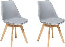 Conjunto de 2 sillas de comedor en gris DAKOTA II