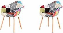Conjunto de 2 sillas de Comedor Silla de Cocina