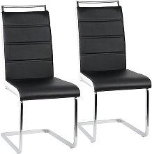Conjunto de 2 sillas de comedor sillas en voladizo