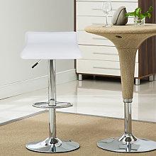 Conjunto de 2 taburetes de bar blancos - Silla de
