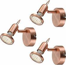 Conjunto de 3 LED apliques comedor lectura Foco