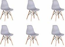 Conjunto de 4/6 sillas de plástico con patas de