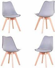 Conjunto de 4 sillas, Silla de Comedor, Silla de
