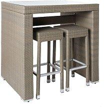 Conjunto de 4 taburetes altos y mesa alta de
