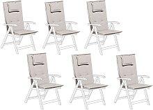 Conjunto de 6 cojines para silla de jardín
