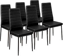 Conjunto de 6 sillas de comedor de polipiel -