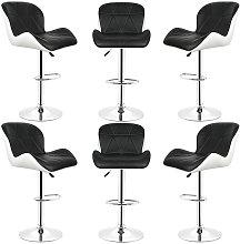 Conjunto de 6 taburetes de bar, silla de bar