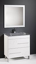 Conjunto de baño CLAUDIA 80 CM, lavabo cristal