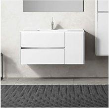 Conjunto de Baño GEA Mueble + Encimera 80CM Blanco