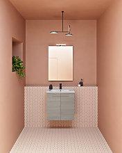 Conjunto de baño mueble 2 puertas+lavabo+espejo