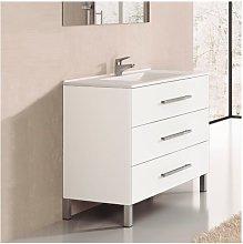 Conjunto de Baño mueble + encimera INDUS blanco