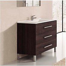 Conjunto de Baño mueble + encimera INDUS Roble