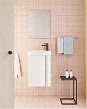 Conjunto de baño mueble+lavabo+espejo 45cm