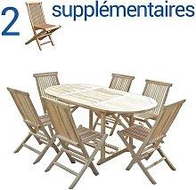 Conjunto de jardín de teca SOLO 6+2 sillas -