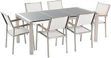 Conjunto de jardín mesa con tablero gris de