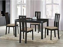 Conjunto de mesa + 4 sillas DOMINGO - Haya maciza