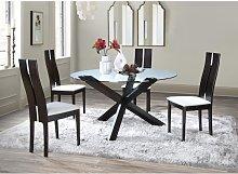 Conjunto de mesa CENTAURI + 4 sillas SALENA - Haya
