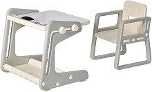 Conjunto de mesa y silla infantil con pizarra