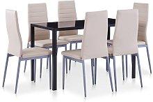 Conjunto de mesa y sillas de comedor 7 piezas