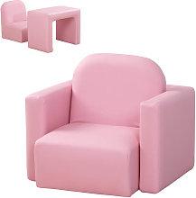 Conjunto de mesa y sillón/silla infantil rosa