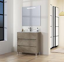 Conjunto de Mueble de Baño con Patas, Lavabo y