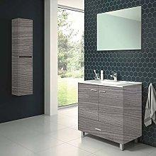 Conjunto de Mueble de baño con Patas y Lavabo de