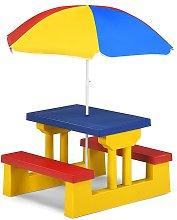 Conjunto de Mueble de Jardín para Niños Plegable