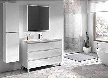 Conjunto de mueble Viena de 100 cm, color blanco