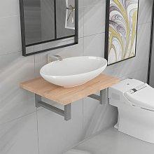 Conjunto de muebles de baño 2 piezas - Marrón