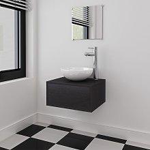 Conjunto de muebles de bano con lavabo y grifo