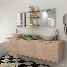 Conjunto de muebles de baño y lavabo 8 piezas