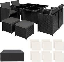 Conjunto de ratán y aluminio Manhattan - mueble