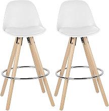 Conjunto de silla alta 2 bar taburetes PP Blanco