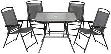 Conjunto de sillas y mesa de 5 piezas Outsunny