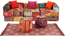 Conjunto de sofá modular 12 piezas tela de