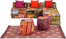 Conjunto de sofá modular 14 piezas tela de