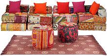 Conjunto de sofá modular 16 piezas de tela