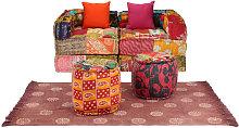 Conjunto de sofá modular 9 piezas de tela